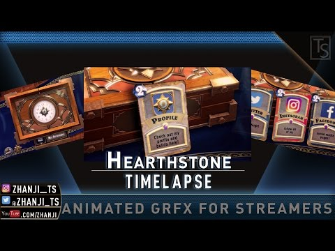 [Timelapse] (Twitch Panels) HEARTHSTONE PANELS -GRFX FOR STREAMERS-