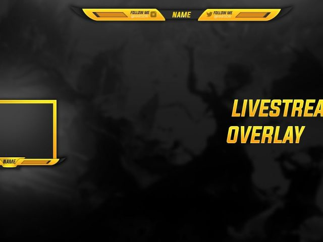FREE Twitch/YouTube STREAMING Overlay + WEBCAM TEMPLATE