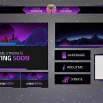 FREE Twitch Graphics Template Pack  | FadiFX | 2017
