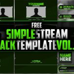 FREE Simple Stream Pack Template Vol.2 | Seangraphicx