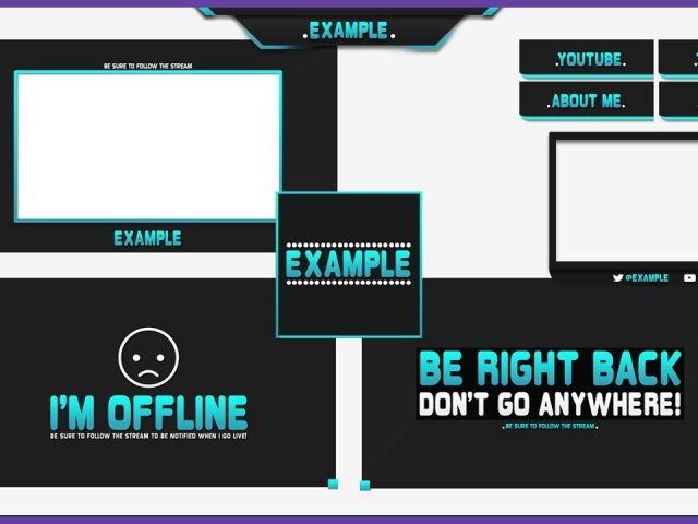 Twitch Graphics Template #1 – Twitch Re Brand | Free Download