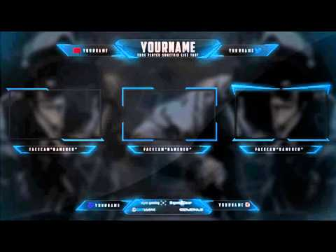 Free Twitch Overlay Multigaming PSD Hitbox Download