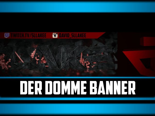 Speedart Slake Twitch Banner (Cinema 4D + Photoshop) – by SentixArtz