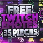 Free Twitch Emotes | +Premium Version | GFX | Seangraphicx