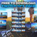 Free & Professional Customizable Twitch GFX Pack