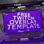 FREE Twitch Streaming Overlay Template! Photoshop