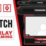 Twitch Overlay | FREE download PSD template | Speed Art | Dragon | www.WDFLAT.com