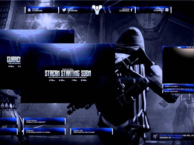 Destiny Twitch Revamp (Overlay, Panels, Brb & Offline)