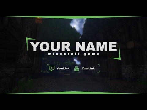FREE Twitch Banner(Minecraft) template#5  | Photoshop + Tutorial
