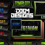 Ultimate Customizable Twitch Live Stream Template Pack – Premade Photoshop Template Pack