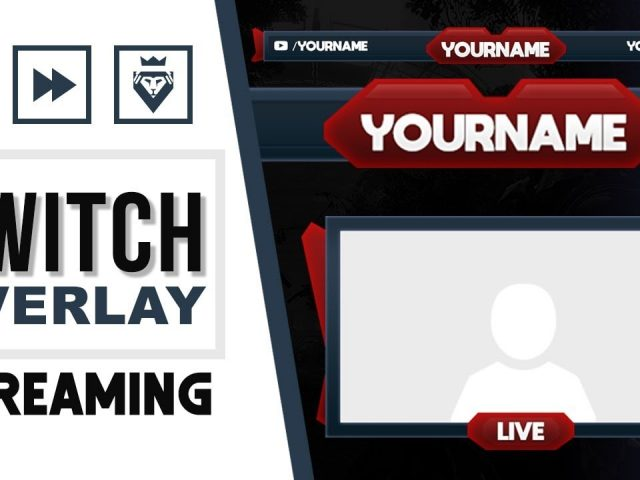 Twitch Overlay | FREE download PSD template | Speed Art | Blue&Red | www.WDFLAT.com