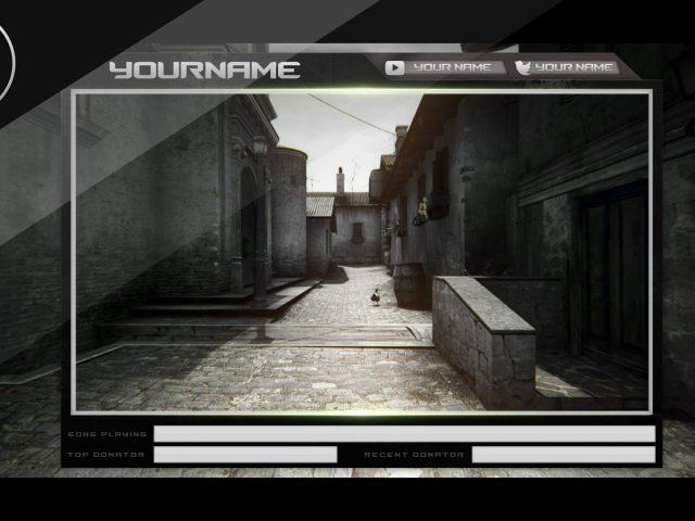 Free Twitch CSGO Overlay Template (PSD) [Webcam]