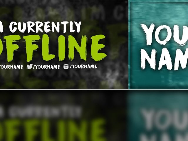 Twitch OFFLINE Banner & Profile Picture FREE Template! (FREE Template DOWNLOAD)