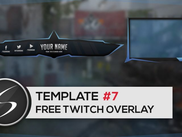 FREE TWITCH Overlay Template #7 – Free Photoshop Download