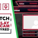 Twitch Overlay & Facecam | Flattyred | Speed Art | FREE download PSD template | www.WDFLAT.com