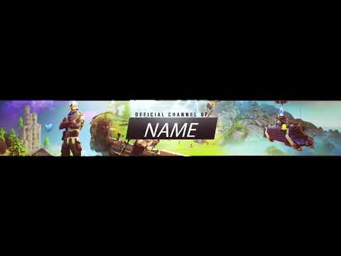 Fortnite  Banner  + FREE TEMPLATE DOWNLOAD