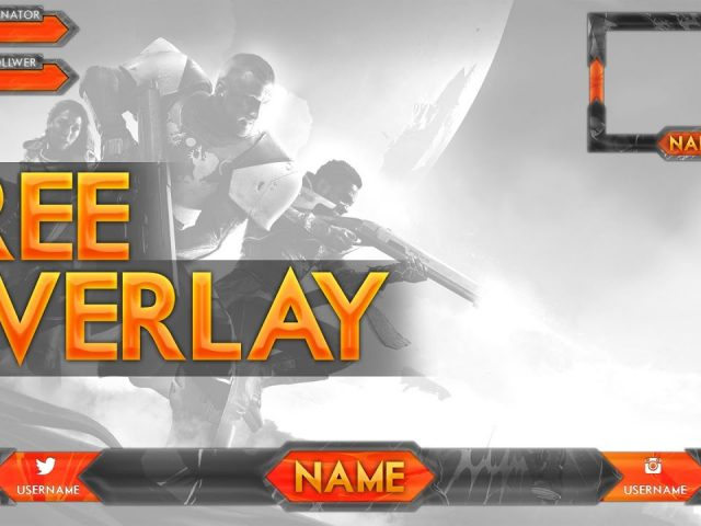 FREE Twitch Overlay Gaming Template   Photoshop PSD