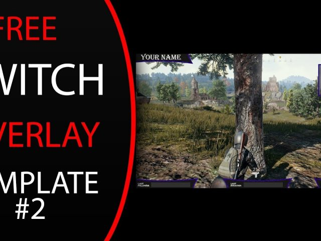 Free Twitch/Youtube Overlay Template #2