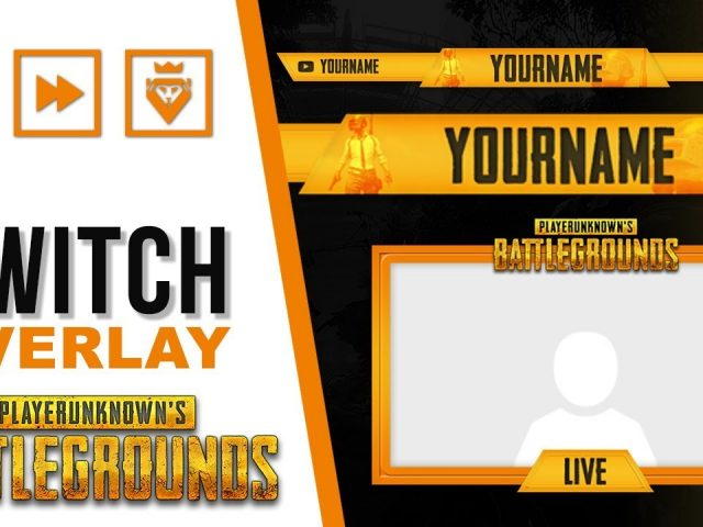 Twitch Overlay | PUBG | FREE download PSD template | Speed Art | www.WDFLAT.com