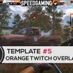 Orange Twitch Overlay Template #5 – Free Photoshop Download