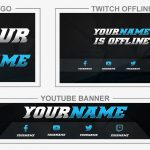 Demonized Brand (Youtube Banner, Logo, Twitch Offline - Templates) + TUTORIAL (how to edit)