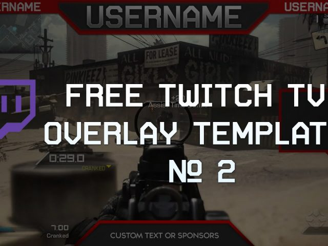 Free Twitch Overlay Template Download PSD #2
