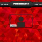 Download free photoshop stream template overlay for TwitchYouTube | Speed Art #6