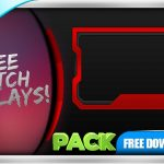 FREE Twitch Overlay Template Animated - Webcam Animated Red Line - PACK
