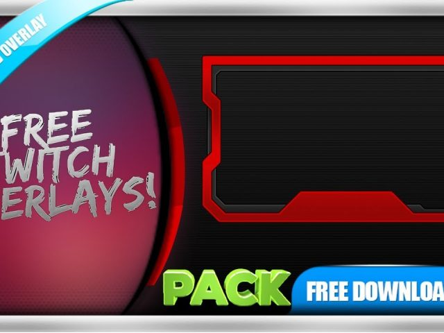 FREE Twitch Overlay Template Animated – Webcam Animated Red Line – PACK