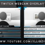 """Free Graphics: Photoshop Twitch video overlay: """"Glossy Facecam"""" template #11 @YLLiBzify"""