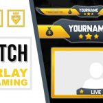 Twitch Overlay | FREE download PSD template | Speed Art | Yellblue Stars | www.WDFLAT.com