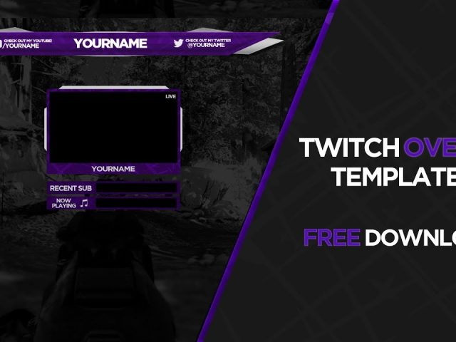 Twitch Overlay Template #1 – Free download