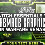 Modern Warfare Remastered – Twitch Essentials Pack – Photoshop Template