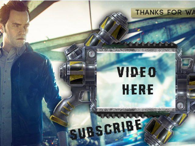 Free GFX: Quantum Break Twitch Overlay Banner Template