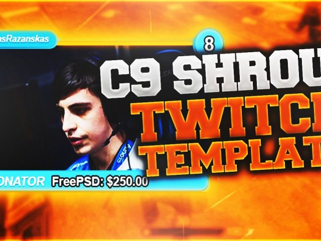 Free GFX: C9 Shroud Twitch Overlay Template Pack – Cloud 9 Shroud Template By Free PSD