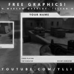"""Free Graphics: Photoshop Twitch video overlay: """"Clean White"""" template #6 @YLLiBzify"""