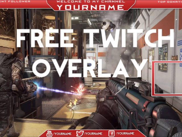 Twitch Overlay Banner Template Free PSD 2015 [HD] #1