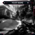Free Twitch Stream Overlay Template | Clean Red & Black Twitch Stream Overlay Template Design