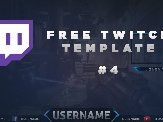 Free Twitch Overlay Template Download PSD #4
