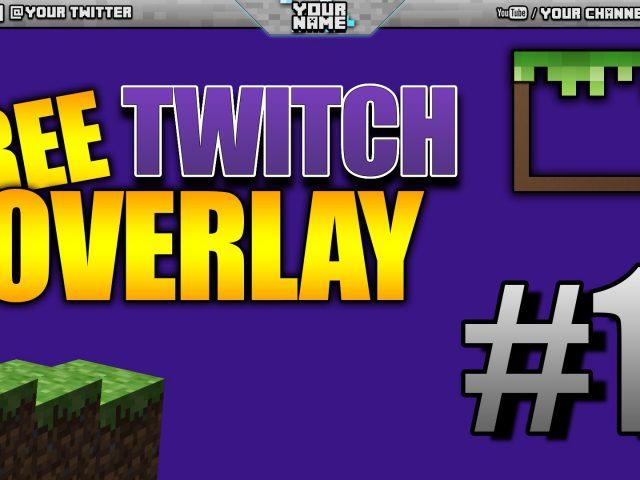 Minecraft overlay – Free Twitch Overlays #1 (1920×1080) (.PSD)