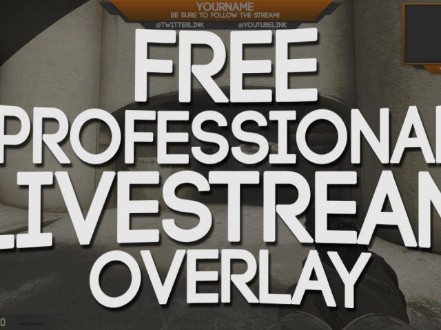 FREE – Professional Twitch Overlay Template! – Editable PSD – 7