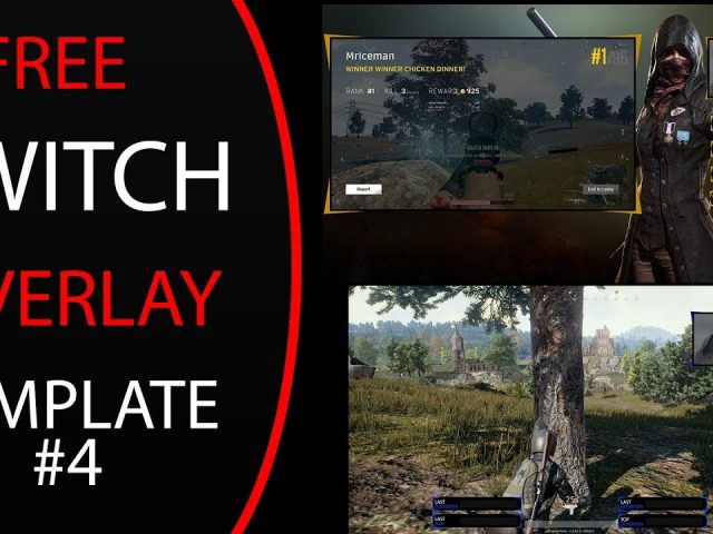 Free Twitch/Youtube PUBG Overlay Template #4