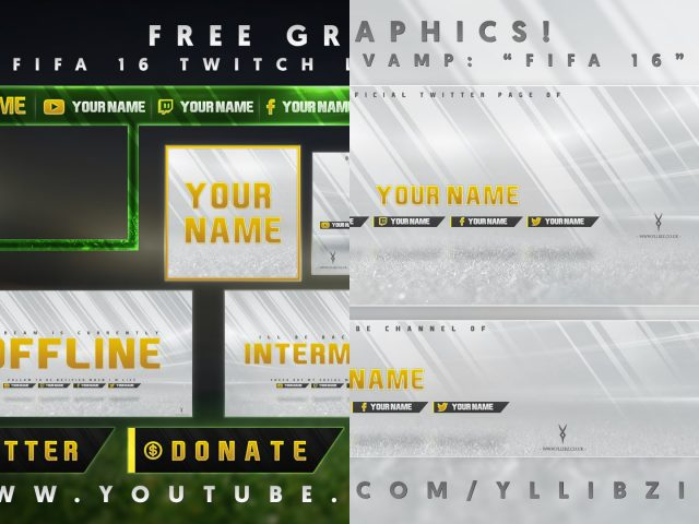 Free Fifa 17 (16) | Youtube Banner, Twitter Header & Twitch Templates