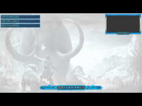 Free Gaming Twitch Overlay Template PSD | Photoshop CS6
