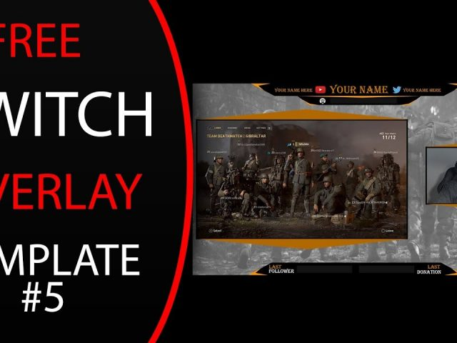 FREE Twitch/Youtube Overlay/BRB Template #5