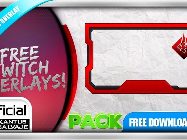 FREE Twitch Overlay Template Animated – Webcam Animated Inverse Time – Fancy Effect –  PACK