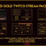 Red Gold Twitch pack (Full stream bundle)