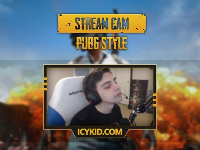 Free Twitch Overlay Template – Stream Golden PUBG Cam – PSD – Free Download