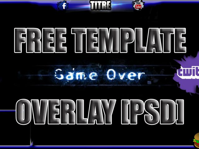 Twitch TV Stream Overlay BLUE TEMPLATE  [PSD] : Free download