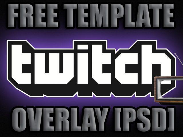 Twitch TV Stream Overlay ORANGE TEMPLATE  [PSD] : Free download